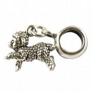 Sheep / Lamb Sterling Silver 3D Dangle Charm / Carrier Bead